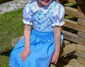 Dirndls for girl girl's dirndl, Babydirndl child dirndl blue- checked Oktoberfest dress