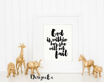 Print - God is within her she will not fail