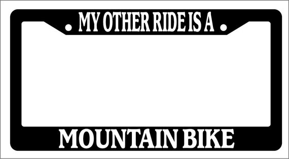 Chrome License Plate Frame My Other Ride Is A Horse Auto Accessory Novelty