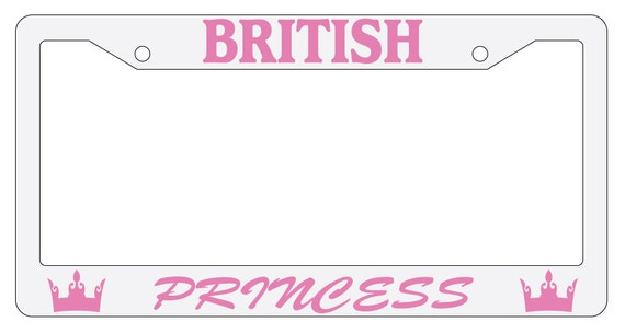 Chrome License Plate Frame Keep Calm And Be A Princess Auto Accessory Novelty