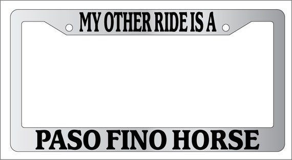 Chrome License Plate Frame My Other Ride Is A Ambulance  Auto Accessory Novelty