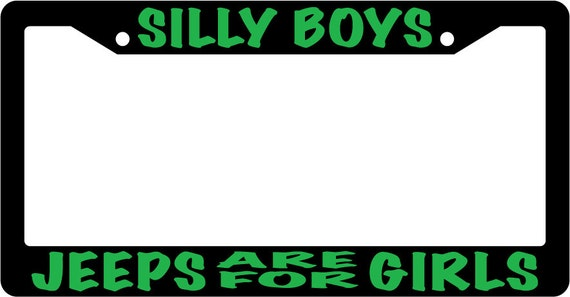 Chrome METAL License Plate Frame SILLY BOYS MUSTANGS ARE FOR GIRLS PINK Auto