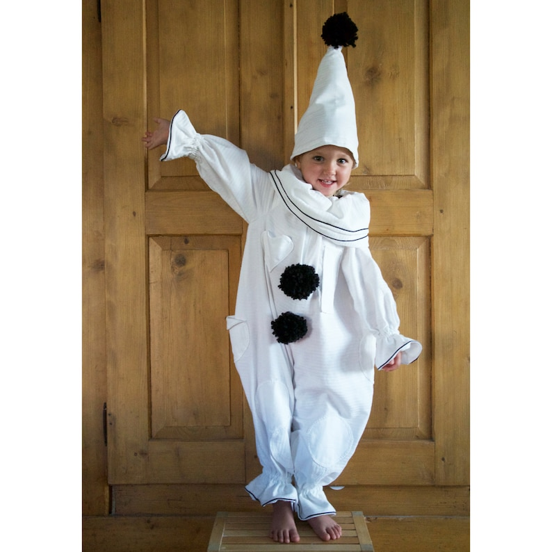 f1a09b07 Pierrot Clown Costume Child | Etsy