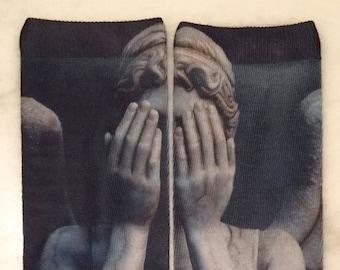 Weeping Angel Sock   Doctor Who Apparel