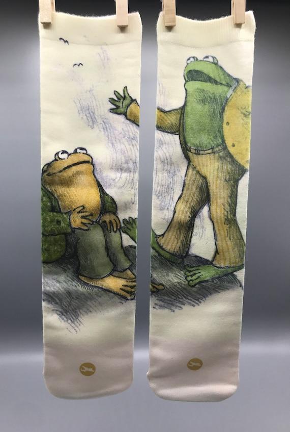2 Pairs Frog Pattern Long Socks For Women Womens Knee High Socks Best For Running