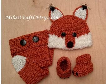 Crochet Baby Fox Set  Hat 60476a76b84