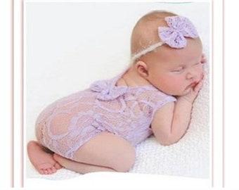 4496e9ea5 Newborn lace romper