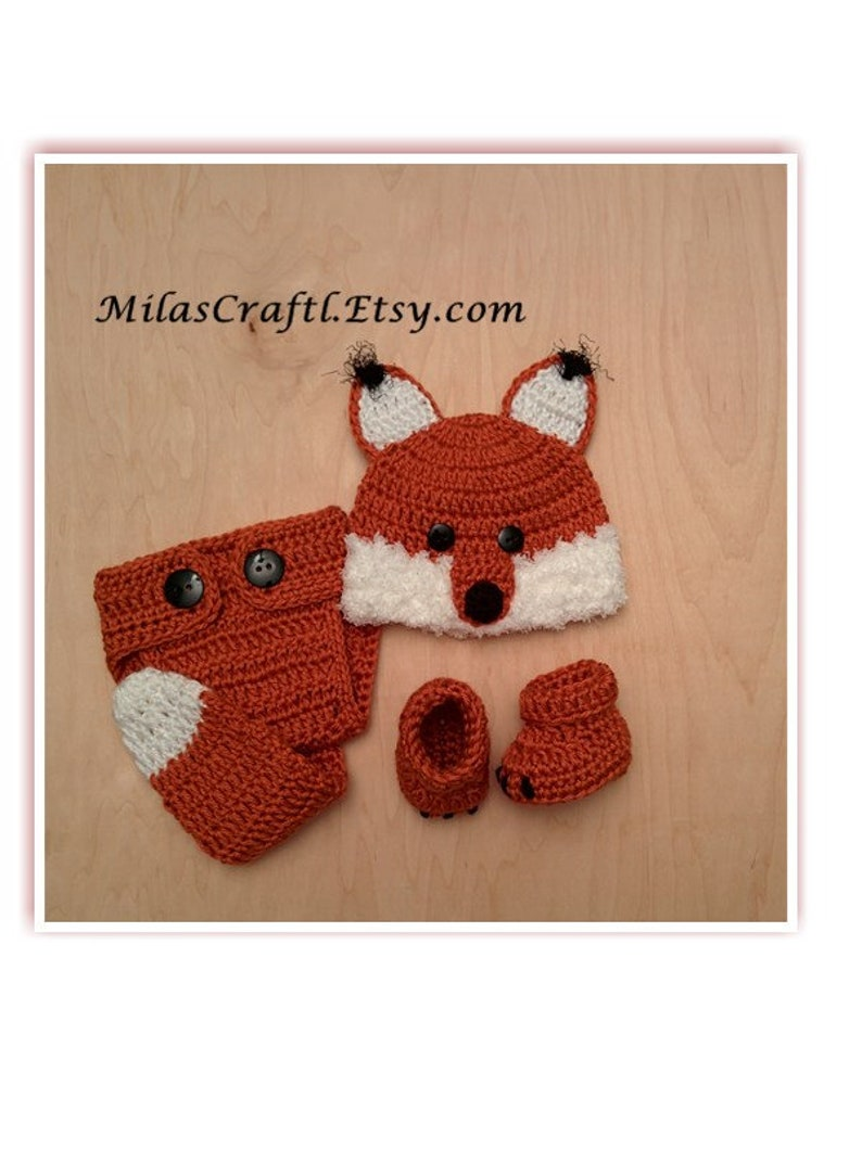 6e32988ec71 Crochet Baby Wolf Set  Hat Diaper Cover Booties Set for Boy