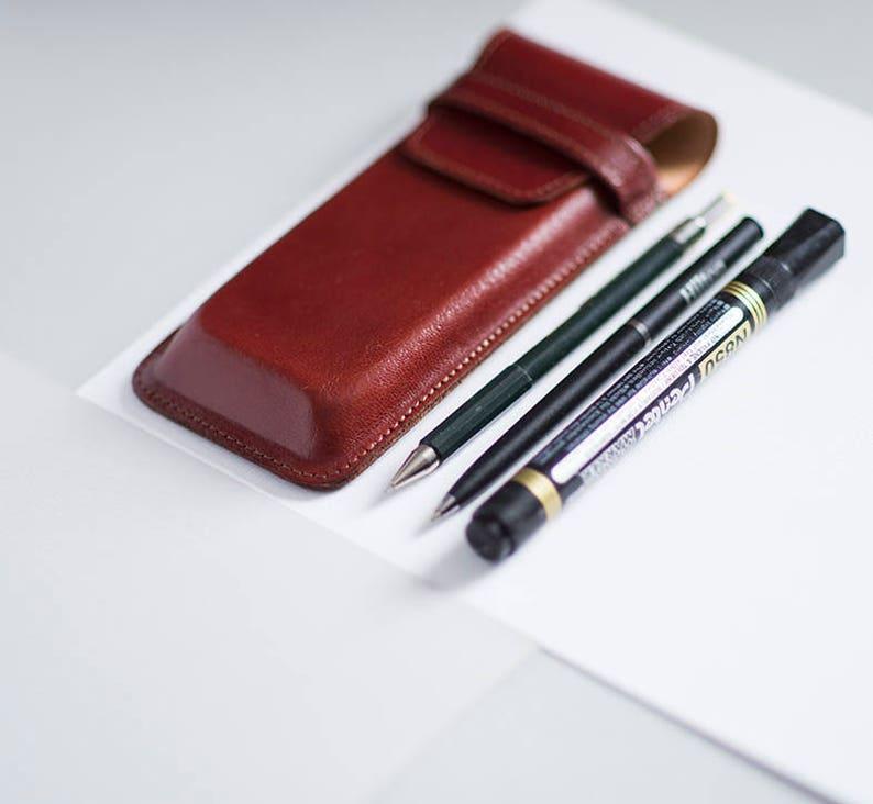 42ddce792f4e7 Veg tanned leather pencil case Pencil case for teacher