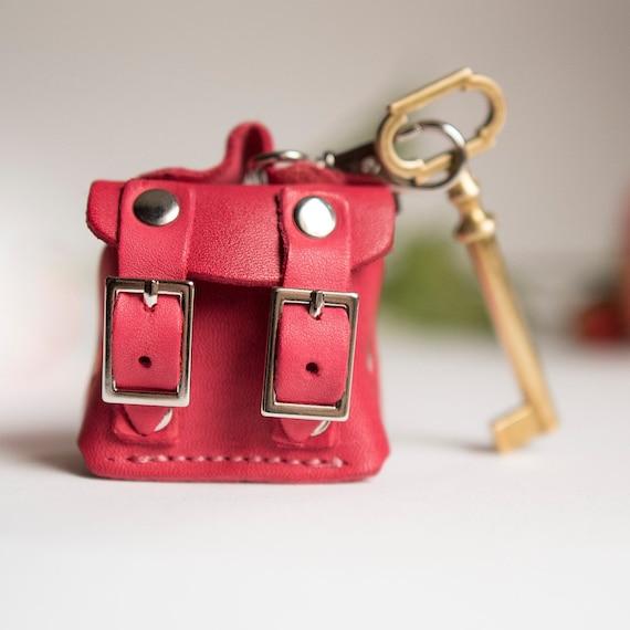Wedding Valentines Personalised Pink Leather Genuine Keyring Gift Anniversary