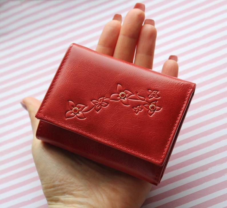 b0d3e1e0411 Kleine rode portemonnee rode zak portemonnee rode petit | Etsy