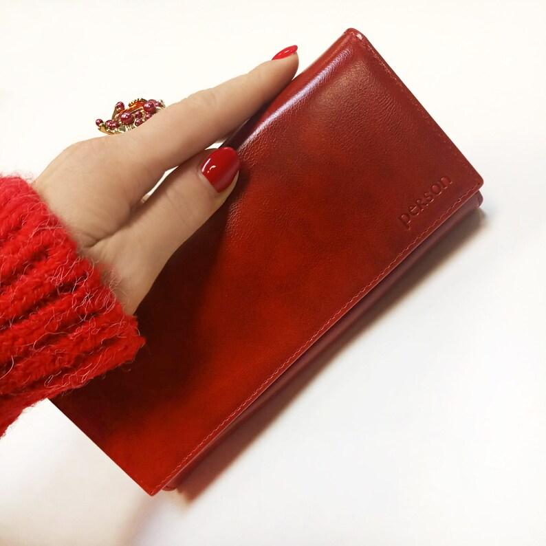d64fcb12ac418 STOP RFID-Rote Echtleder Geldbörse rot Luxus Brieftasche
