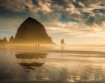 Cannon Beach, Oregon, Pacific Northwest, Pacific Ocean, Haystack, Ocean Scene, Landscape, Coast, Coastal Scene, Fine Art Print, Home Decor