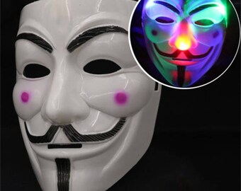 LED light up V for Vendetta mask  sc 1 st  Etsy & V for vendetta | Etsy