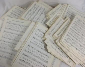 VINTAGE DOUBLE SIDE SHEET MUSIC MANUSCRIPT PAPER DECOUPAGE,SCRAPBOOKING,ART
