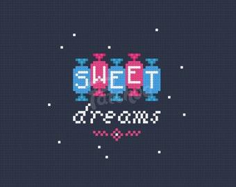 Sweet Dreams  - Cross Stitch Pattern (PDF) - INSTANT DOWNLOAD