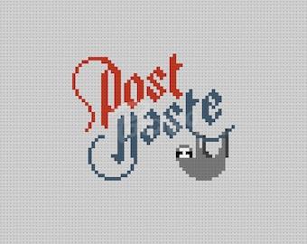 Post Haste - Sloth  - Cross Stitch Pattern (PDF) - INSTANT DOWNLOAD