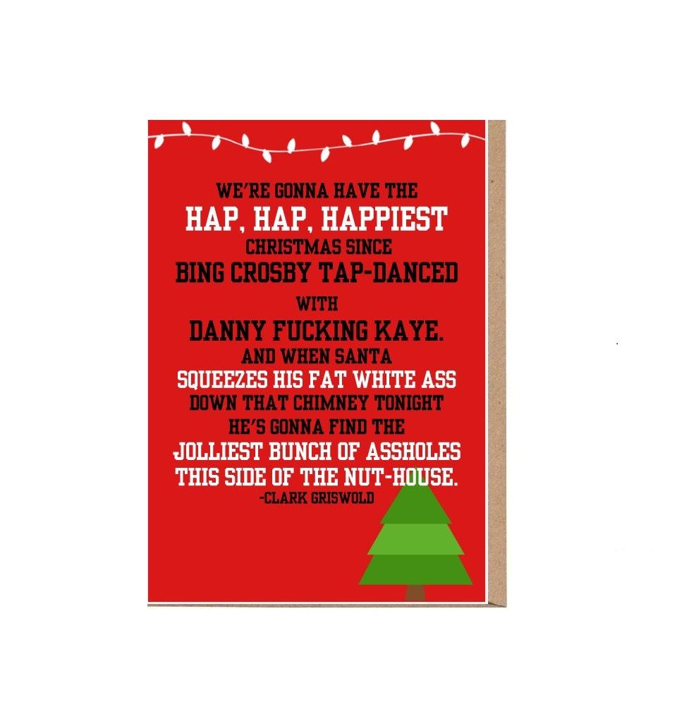 National Lampoons Christmas Vacation Card Hap Hap Happiest   Etsy