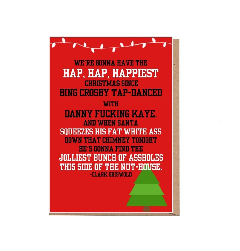 National Lampoons Christmas Vacation Card Hap Hap Happiest | Etsy