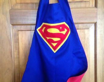 SUPERMAN Kids Superhero Cape/Costume