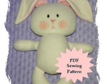 Stuffed Animal Sewing Pattern, Plush Sewing Pattern PDF - Bunny, Softie, Plushie - Instant Download, DIY