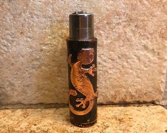 The Lizard Clipper - Decorative Copper Case for your Clipper Lighter