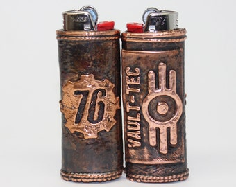 Fallout 76 inspired Copper Bic Lighter Case