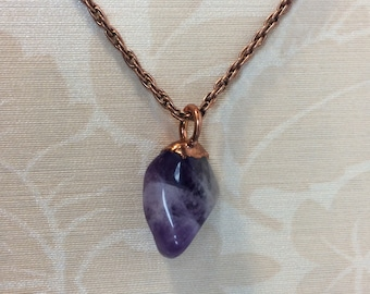 Amethyst Pendant with matching Amethyst Match Box Gift Box