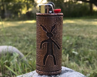 Great Rabbit Nanabozho Petroglyph Copper Lighter Case 600 year old design 3D Printed and Coated in High Purity Copper