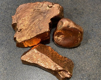 Copper Healing Stone (set of 3) - locally sourced grandfather stones coated in copper