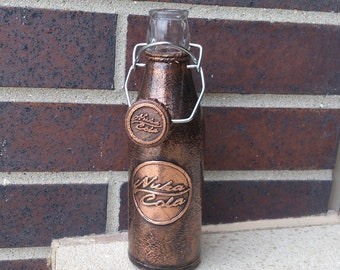 Customized Personalized Branded Copper storage Bottle with Swing Top Cap