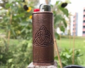 Celtic Triquetra Celtic Knot Copper Lighter Case 3D Printed and coated in High Purity Copper with patina finish