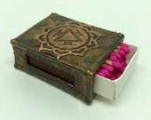 Mandala Match Box Holder - A very nice mandala sealed in thick resin