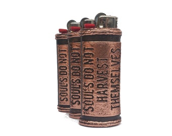 Personalized or Custom Copper Lighter Case for the Bic