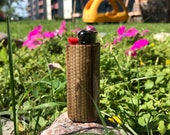 Straw Weave Lighter Case