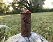 Crane Ajijaak Petroglyph Copper Lighter Case 600 year old design 3D Printed and Coated in High Purity Copper