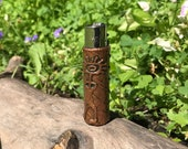 Gitchi Manitou Clipper - Hand Crafted Copper Electroformed Case for the Clipper Brand Lighter