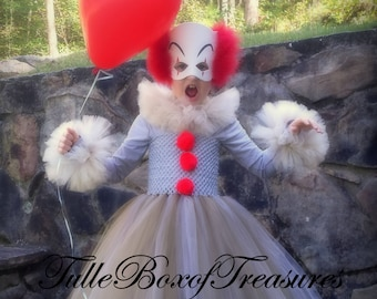 03fec654cf Scary clown tutu and mask Costume Halloween Dress up Clothes Birthday  Gift Birthday Party King