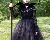 Magnificent Evil Black Tutu Costume Halloween Dress up Clothes Birthday Gift Princess Dress Princess Costume Birthday Party Villain Bad