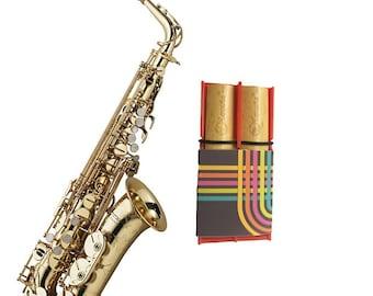 Blue Baritone Saxophone Wood Rockin Reed Holder by Lescana Reeds