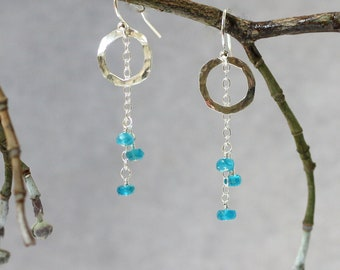 30th birthday gift for her gifts under 30 statement jewelry pearl earrings apatite earrings