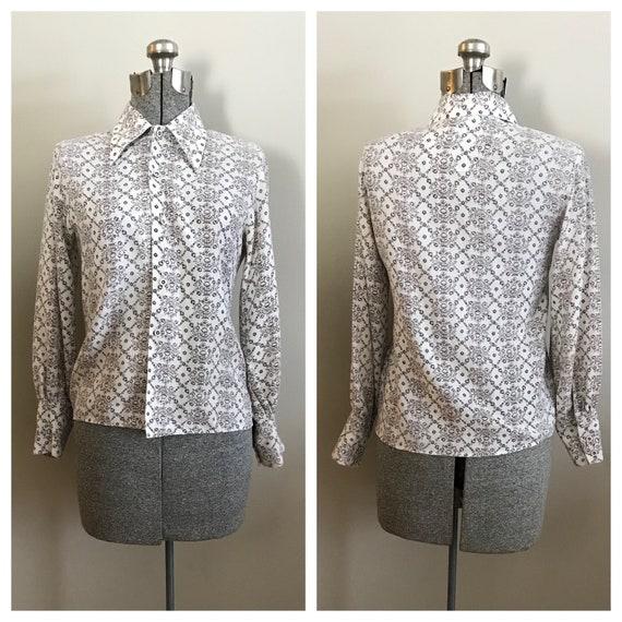 Vintage 1970's secretary blouse