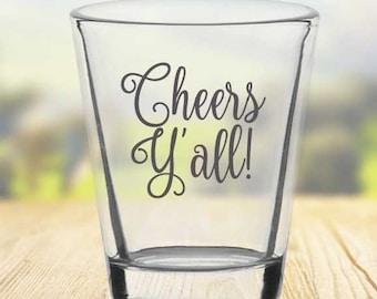 Personalized Shot Glass Customized 1.75oz Shot Glass 1020 Wedding Glasses Custom Shot Glass We Tied the Knot shot glass
