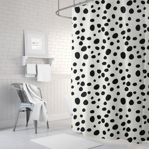 Dalmatian Print Shower Curtain Black And White