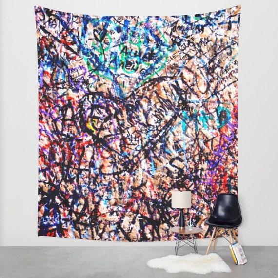 Graffiti Art Tapestry Italy Photography Teen Wall Decor | Etsy