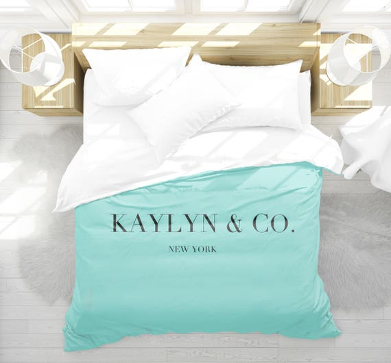 personalized duvet cover breakfast at tiffanys girls bedroom etsy