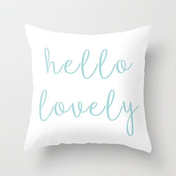 Hello Lovely Pillow Decorative Pillows Girls Pillow Teen Etsy Unique Decorative Pillows For Teen Girls