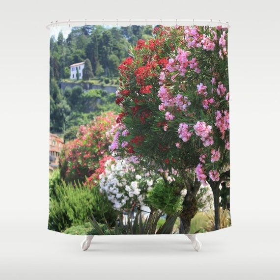 Italy Shower Curtain Bellagio Decor Pink