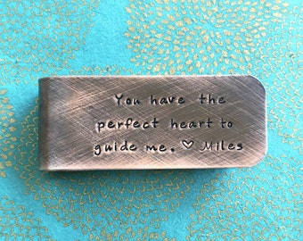 Copper Money Clip | Gift for Godfather | Gift For Dad | Gift For Groom | Gift For Sponsor | You have the perfect heart to guide me.