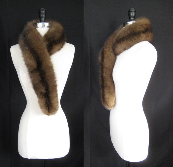 Feinsten Russischen Barguzin Zobel Pelz Schal Luxus Samt Etsy